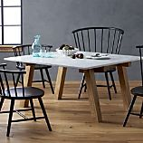 Riviera Square Marble Top Dining Table