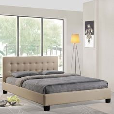 Modway Caitlin King Fabric Bed Frame