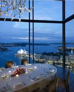 Gaze out upon exquisite views of Sydney's world-famous harbour from the floor-to-ceiling windows: this is Romance with a View. - Altitude Restaurant at Shangri-La Hotel, Sydney, Australia Shangri La Sydney, Shangri La Hotel, Australia Photos, Australia Travel, South Australia, Western Australia, Victoria Australia, Hotels And Resorts, Best Hotels