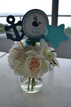 nautical-whale-baby-shower-centerpieces