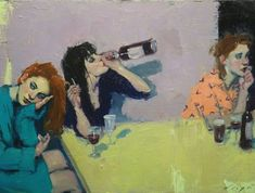 Malcolm Liepke Girls Night 2018 oil on canvas Artist Painting, Figure Painting, Painting & Drawing, Arte Sketchbook, Malcolm Liepke, Wow Art, Pretty Art, Aesthetic Art, Art Inspo