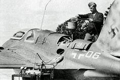 ✠ Messerschmitt Me 163 Komet, the German rocket-powered fighter aircraft (the world's first), which (though not intended to) would  unofficially brake the speed of sound on several occasions, sonic booms and all.