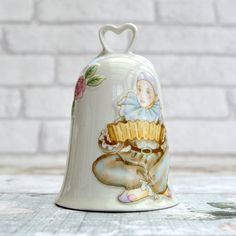 Vintage Bell Vintage China Bell Vintage Home Decor by FillyGumbo