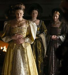 QUEEN ANNE OF CLEVES BEING TOLD THAT THE MARRIAGE BETWEEN HERSELF & THE KING WILL BE ANNULLED. The Tudors