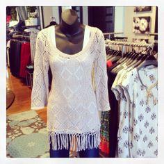 Amazing crochet tunic or beach cover-up! #jmodefashions