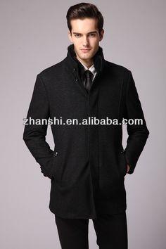 New Design High Quality Fashion Men's Black Woolen Cashmere Jacket Coat - Buy High Quality Men Woolen Jacket,Men Cashmere Coat,Black Wool Cashmere Coat Product on Alibaba.com