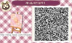 [Brings out out of the forest animals] Heart block pattern QR code: Naver blog