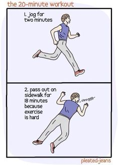 I might be able to do this one. Can I split up the 2 mins of jogging?
