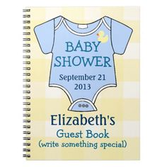 Baby Shower Guestbook Note Book #Baby Shower Guest Book- #Spiral Notebooks, #baby shower, #party favors, #twins, #shower favors, #birth announcements, #baby boy, #baby girl, #cheap, #inexpensive, #personalized, #shower party favors, #unique, #favor ideas, #favor, #favour, #babies, #infant, #timelesstreasure