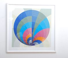 Silkscreen Original Art Mid Century Modern  Op Art by AMBIANIC, $750.00