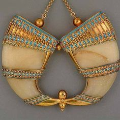 Egyptian Revival enamelled pendant