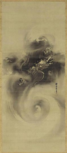 狩野探幽 Kano Tan'yu, Dragon in the Clouds, 2nd half of the 17th century https://www.facebook.com/tabaca.magno?ref=tn_tnmn