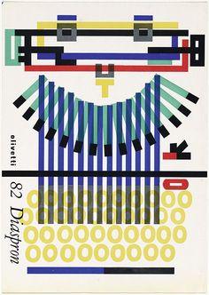 Olivetti (typewriters) ~ Giovanni Pintori