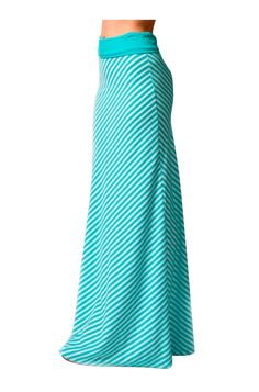 - Juniors Sizing - 95%RAYON 5%SPANDEX - Imported - This piece features a high banded waist, striped print, and floor length hem. - Look and feel great all day in this comfortable and trendy maxi skirt