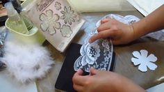 Le Romantique Tutorial 2: Vintage Fabric flower and Flower Gem Centre, via YouTube.