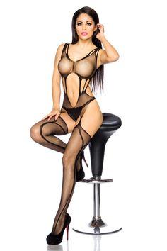 Bodystocking ouvert von luxury & good Dessous | catsuit / bodystocking | Sexy Damenunterwäsche | Reizwäsche | Outfits von LG Dessous