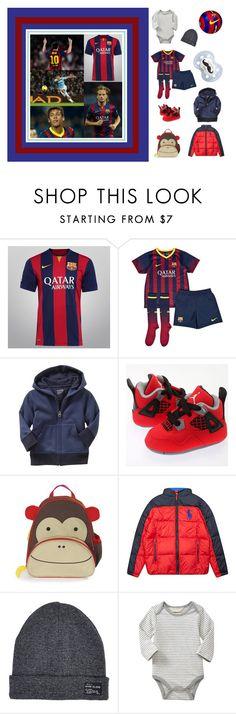 """FC Barcelona - Manchester City"" by mockingjayafire ❤ liked on Polyvore featuring NIKE, Gap, Retrò, Skip Hop, Ralph Lauren, River Island, Baby, barcelona, babyfashion and fcbarcelona"
