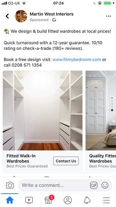 Fitted Wardrobes, Building Design, Free Design, Master Bedroom, Bookcase, Shelves, Interior, Garden, Home Decor