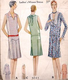 1928 McCall pattern #5645 | from the Commercial Pattern Archive at University of Rhode Island