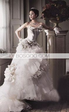 A-line Beading Wedding Dress