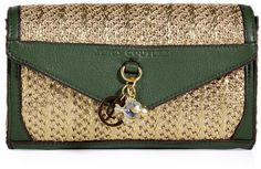 Juicy Couture Gold and Olive Palm Springs Party Clutch