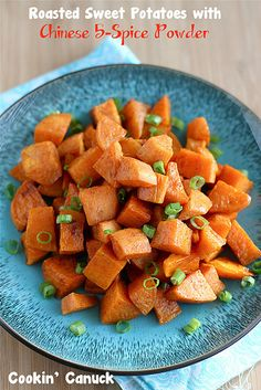 "<p>Roasted Sweet Potatoes Recipe with Chinese Five-Spice Powder</p><p>Roasted sweet potatoes take mere minutes to prep. Just toss them with olive oil, salt and Chinese 5-spice powder before sliding them into the oven.</p><p>If there was a Superfriends Hall of Justice for food, sweet potatoes would be the Superman or Wonder Woman of the group. Or put two of them together and they could do ""Wonder Twins activate. Form of an ice pick!"" Please humor me and tell me that you know what I'm talking…"
