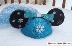 Elsa Frozen Inspired Ear Hat by HappilyEverHatter on Etsy, $50.00