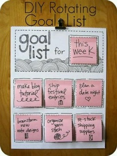 I like this DIY goal list for the week, keeps your work organised! - brittanylanex