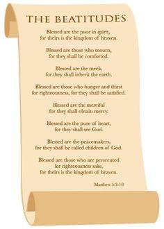 how to teach the beatitudes