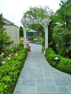 concrete patio with bluestone border - Google Search