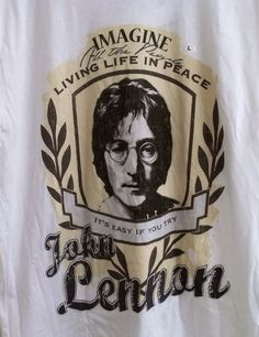 John Lennon Imagine T-Shirt Adult L Large Official JL Product New with Tag
