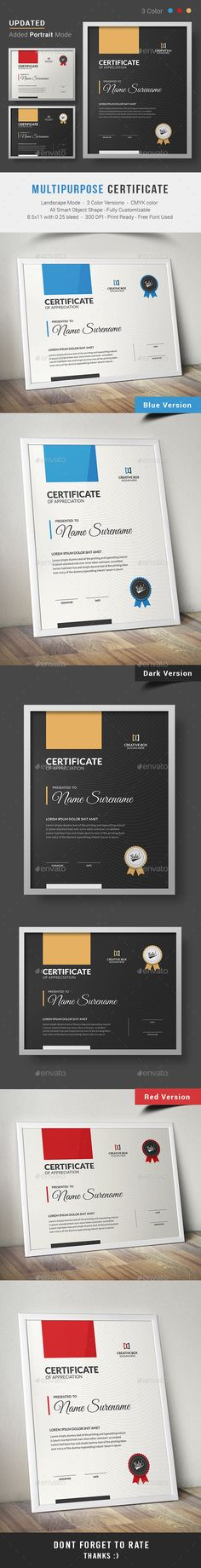 Certificate - #Certificates #Stationery Download here:  https://graphicriver.net/item/certificate/13864774?ref=alena994