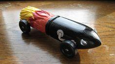 Bullet from Mario Bros. pinewood derby car