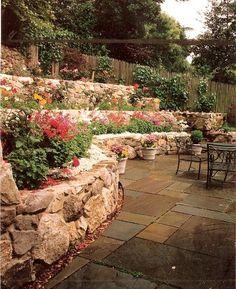 terraced garden beds