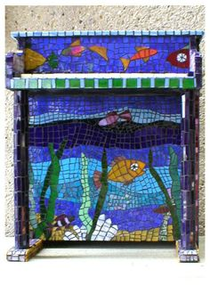 Mosaic on a children's piano.