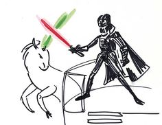 Unicorn vs. Darth?  i think i know who wins...