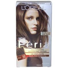Feria Multi-Faceted Shimmering Color 3X Highlights #50 Medium Brown/ Natural by L'Oreal (1)