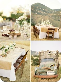 Simple and pretty table decor