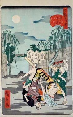 「お笑い江戸名所」展のチラシができました。まるでコメディーのようにふざけた江戸っ子たちの姿をご紹介。知られざる浮世絵師・歌川広景