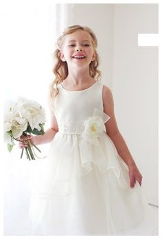 ff25479875be Flower Girls Chiffon Floral Lace Dress Princess Party Pageant Wedding Ball  Gown