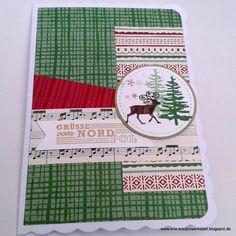 """#Weihnachtskarte """"Grüße vom Weihnachtsmann"""" mit dem DP """"Für #Weihnachten""""   http://eris-kreativwerkstatt.blogspot.de/2016/11/weihnachtskarte-grue-vom-weihnachtsmann.html  #stampinup #teamstampingart #xmas #christmas #rentier"""
