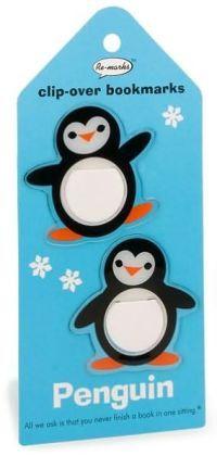 Set of 2 Penguin Clip-Over Bookmark
