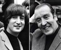 John Lennon and his father, Alfred Lennon