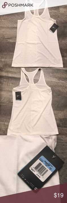 NWT Nike Dry Fit T-Back Tank Top Awesome fabric, too big for me. My loss your gain! Never worn. Nike Tops Tank Tops