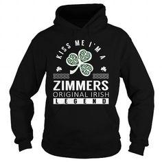 I Love ZIMMERS Last Name, Surname Tshirt T shirts