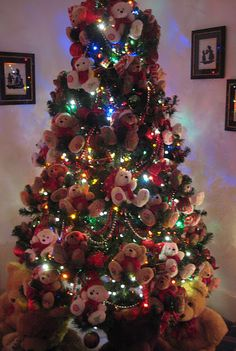 teddy bear christmas tree my christmas 2013 project