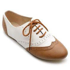 Amazon.com: Ollio Women's Classic Dress Oxfords Low Flats Heels Lace Up Multi Colored Shoes: Shoes $18