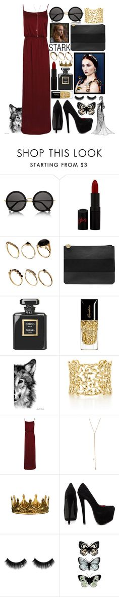 """""""Sansa Stark"""" by tyabluue ❤ liked on Polyvore featuring Dolce&Gabbana, The Row, Rimmel, ASOS, Dorothy Perkins, Chanel, Guerlain, WALL, Paloma Picasso and Boohoo"""