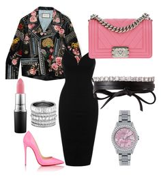 """""""Untitled #9"""" by jabriele on Polyvore featuring Gucci, Rare London, Henri Bendel, MAC Cosmetics, Christian Louboutin, Chanel, Rolex and Fallon"""