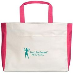 I Don't Do Damsel Beach Tote